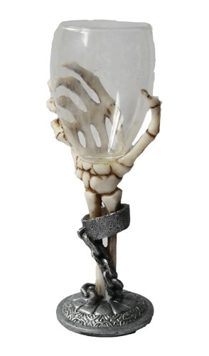 Skeleton Hand Wine Glass