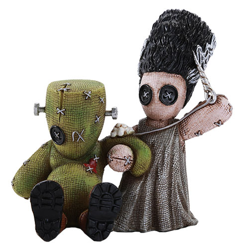 Frankenstein and Bride Mad Stitch Love Statue