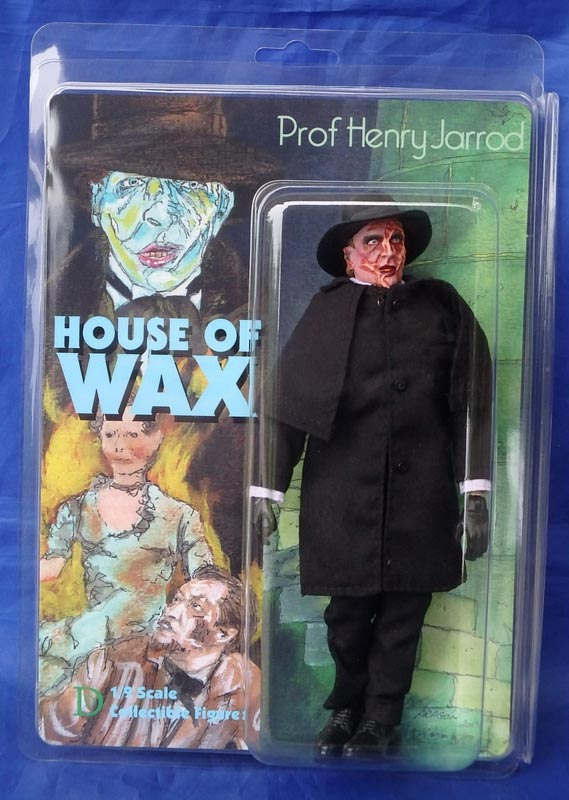 "House of Wax Professor Henry Jarrod Vincent Price 8"" Retro Mego Style Figure"