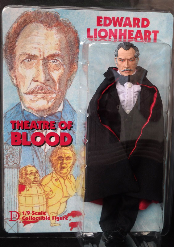 "Theater of Blood Vincent Price Edward Lionheart 8"" Retro Mego Style Figure"