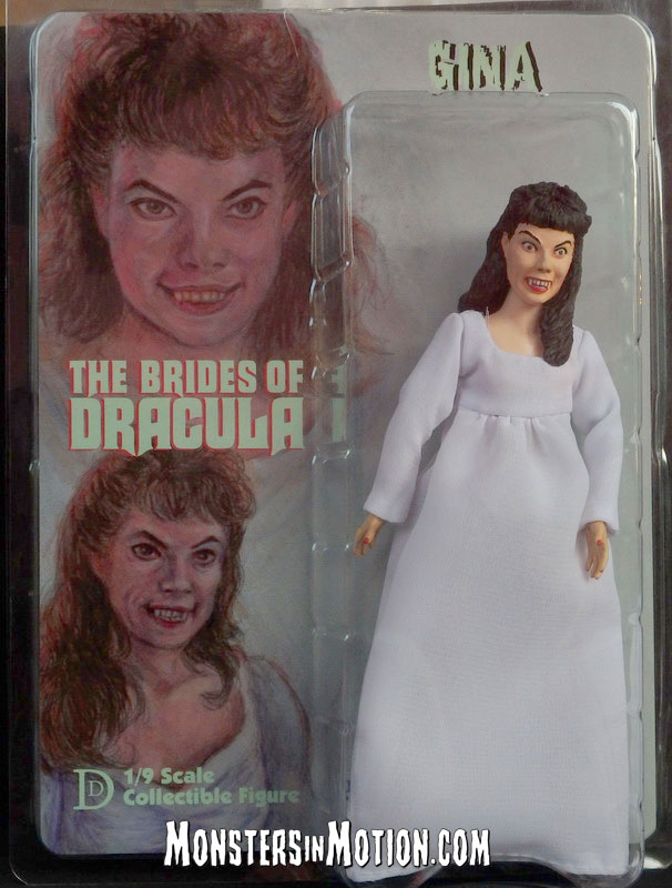 "Brides of Dracula Gina 8"" Retro Style Figure Andree Melly"