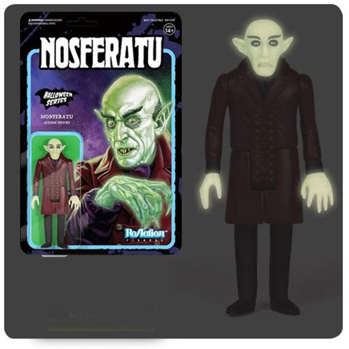 "Nosferatu Count Orlok Glow in the Dark ReAction 3.75"" Action Figure"