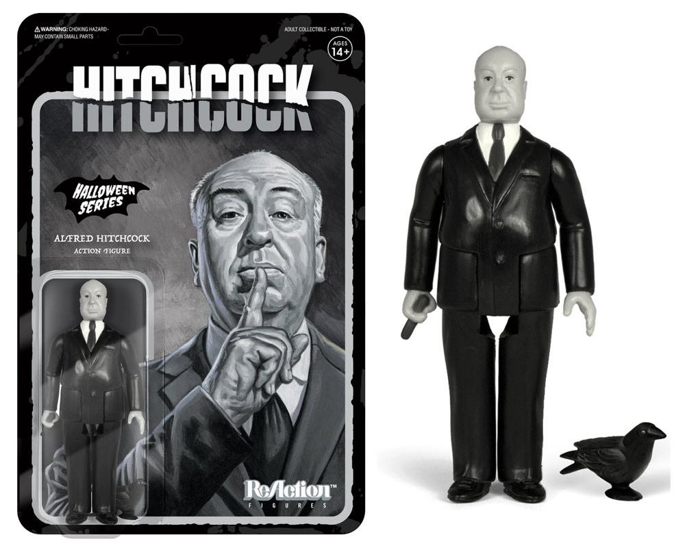 "Alfred Hitchcock ReAction 3.75"" Figure Grayscale Version"