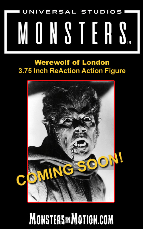 "Werewolf of London 3.75"" ReAction Action Figure Universal Monsters Wave 3"