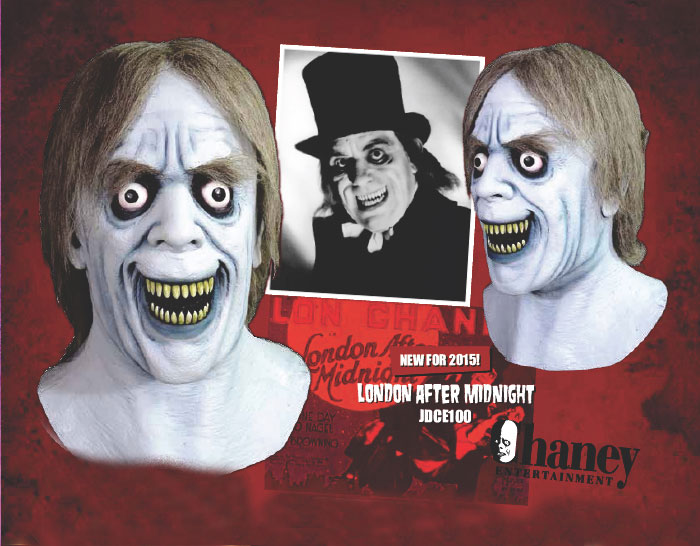London After Midnight Lon Chaney Latex Halloween Mask