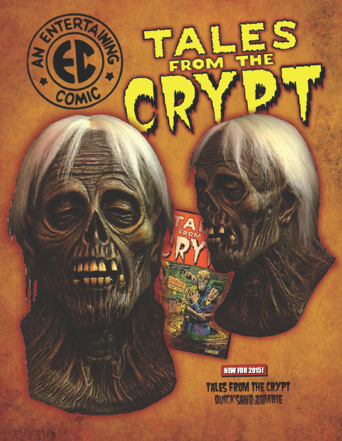 Tales From The Crypt Quicksand Zomble Latex Halloween Mask EC COMICS