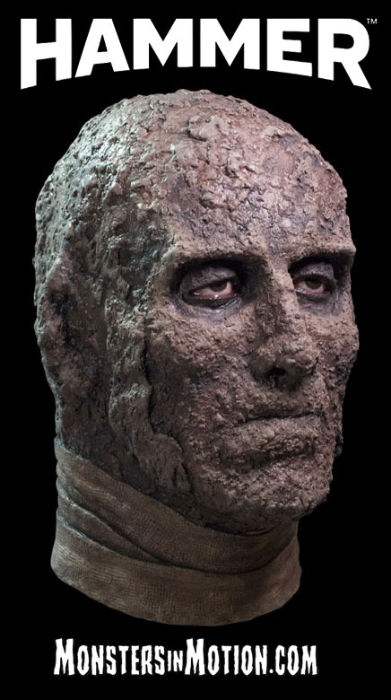 Mummy Hammer Horror Latex Pullover Collectors Mask Christopher Lee