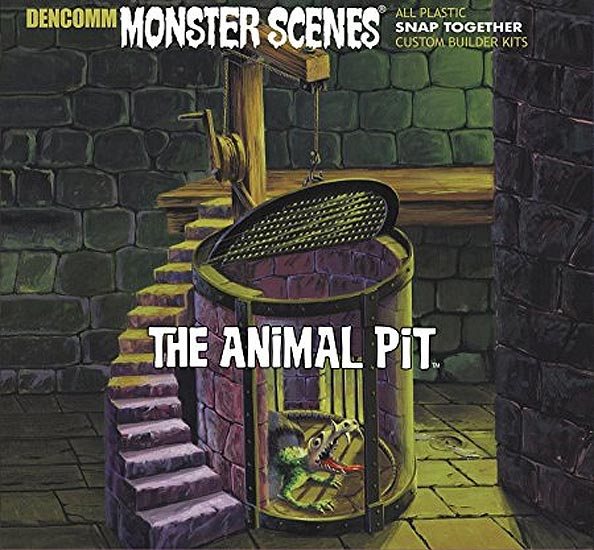 Monster Scenes The Animal Pit Plastic Model Kit Aurora Reissue