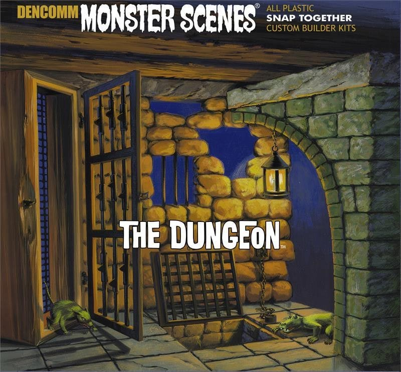 Monster Scenes The Dungeon Plastic Model Kit Aurora Reissue