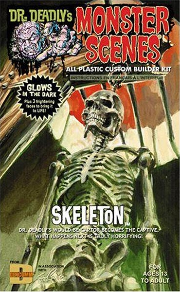 Monster Scenes Hanging Skeleton Plastic Model Kit Aurora Reissue