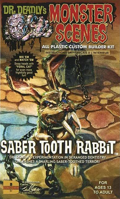 Monster Scenes Saber Tooth Rabbit Plastic Model Kit Aurora Reissue