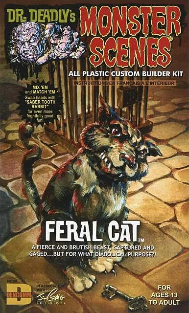 Monster Scenes Feral Cat Plastic Model Kit Aurora Reissue