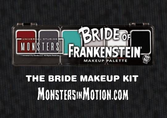 Bride of Frankenstein Make-Up Kit with Brush Elsa Lanchester