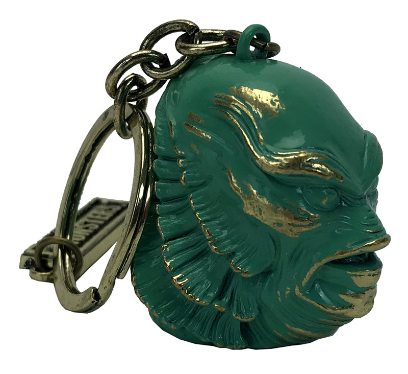 Creature From The Black Lagoon Head Sculpted Metal Keychain