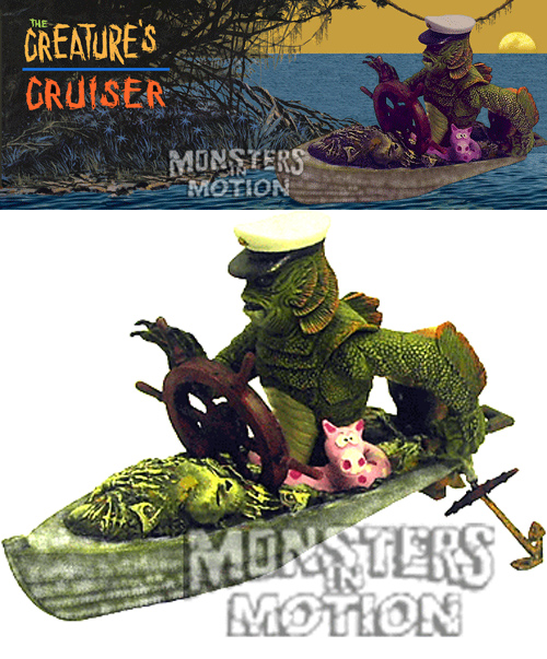 Creature From The Black Lagoon Creature's Cruiser Resin Model Kit