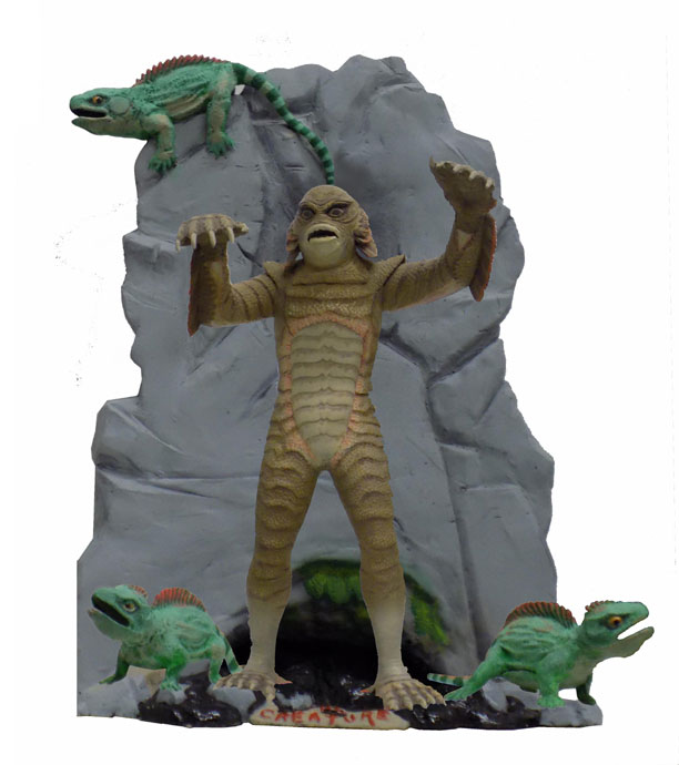 Creature From The Black Lagoon 1/8 Scale Custom Base for Aurora Model Kit