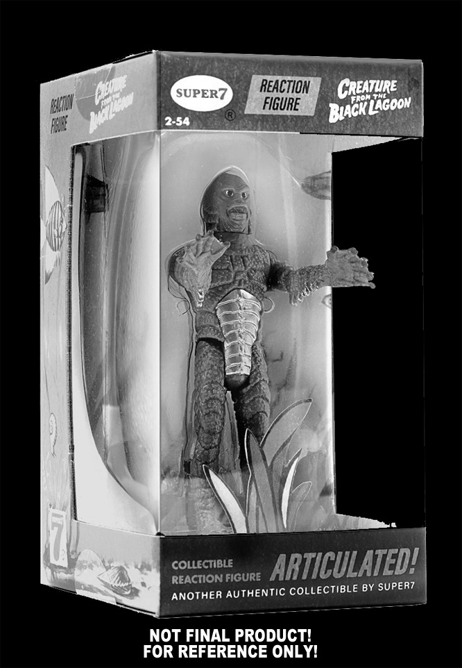 Creature from the Black Lagoon B&W Version 3.75 Inch Boxed Figure