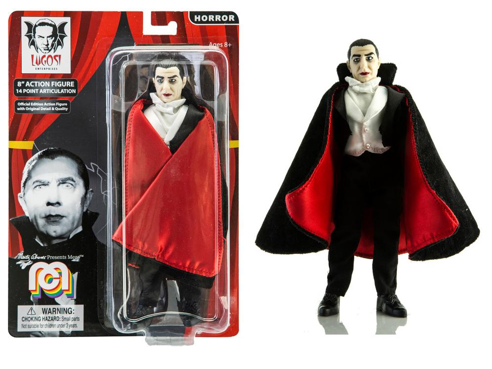 "Dracula Bela Lugosi Red Lining Cape 8"" Figure by Mego"