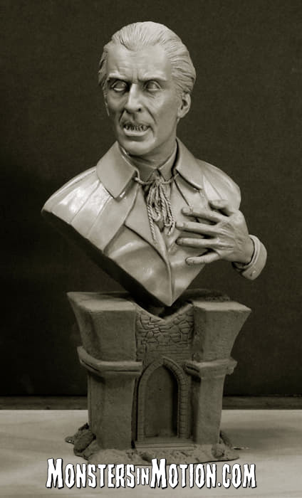 Dracula Christopher Lee 1/4 Scale Bust Model Kit by Jeff Yagher