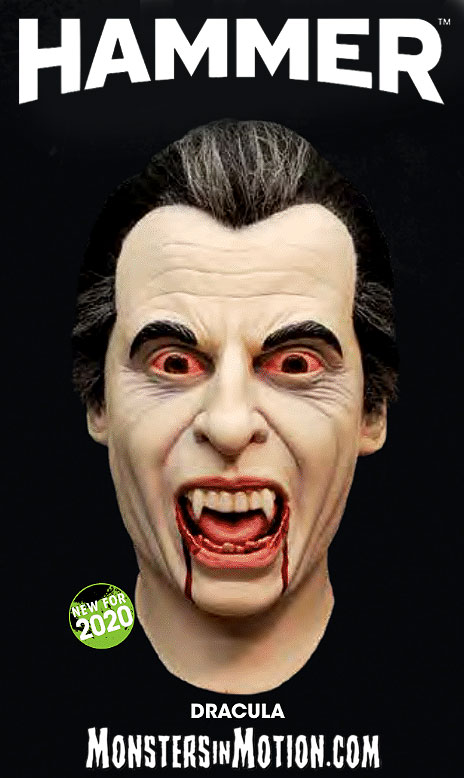 Dracula Hammer Christopher Lee Deluxe Latex Collector's Mask