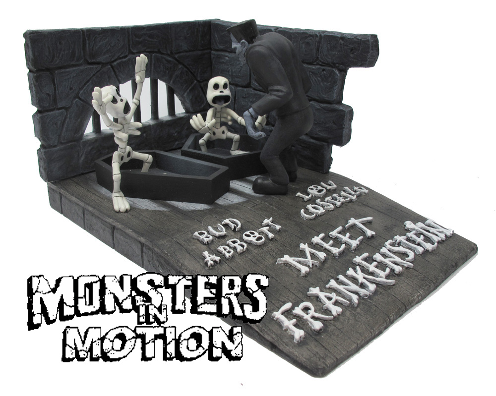 Aurora Monster Scenes Scale Frankenstein Cartoon Monster Skeleton Model Kit