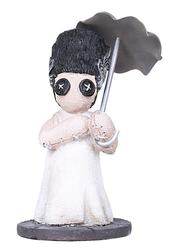 Frankenstein Bride Umbrella Button Eye Figure