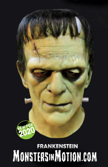 Frankenstein Boris Karloff Deluxe Latex Collector's Mask Universal Studios Monsters