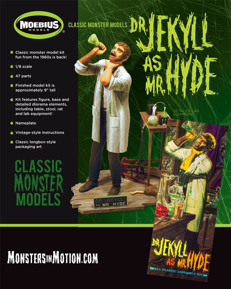 Dr. Jekyll as Mr. Hyde Aurora Re-Issue Model Kit by Moebius