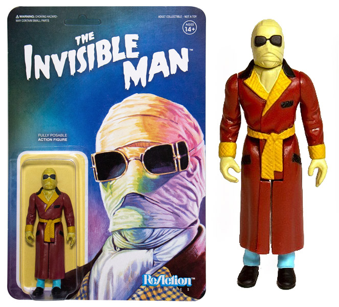 "Invisible Man Universal Monsters 3.75"" ReAction Action Figure"