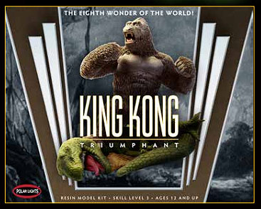 "King Kong Triumphant 9"" Resin Model Kit by Polar Lights"