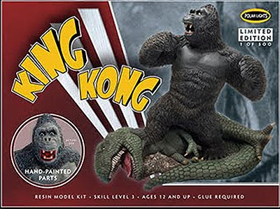 "King Kong Triumphant 9"" Pre-Painted Resin Model Kit by Polar Lights"