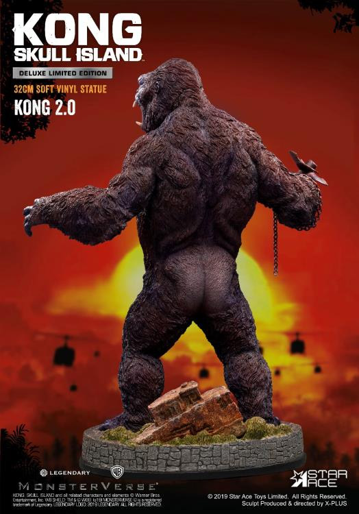 "King Kong Skull Island 12"" Deluxe Soft Vinyl Statue by Star Ace"