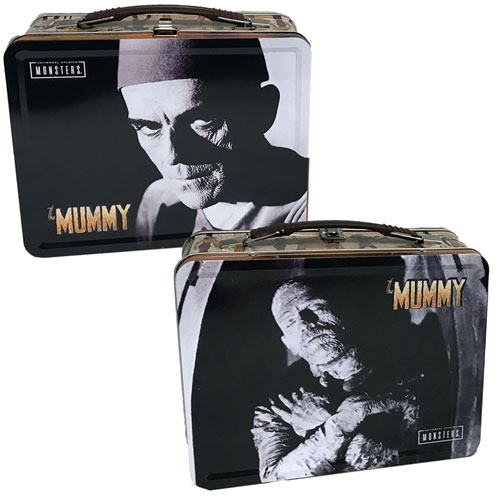 Mummy Boris Karloff Tin Tote Lunch Box