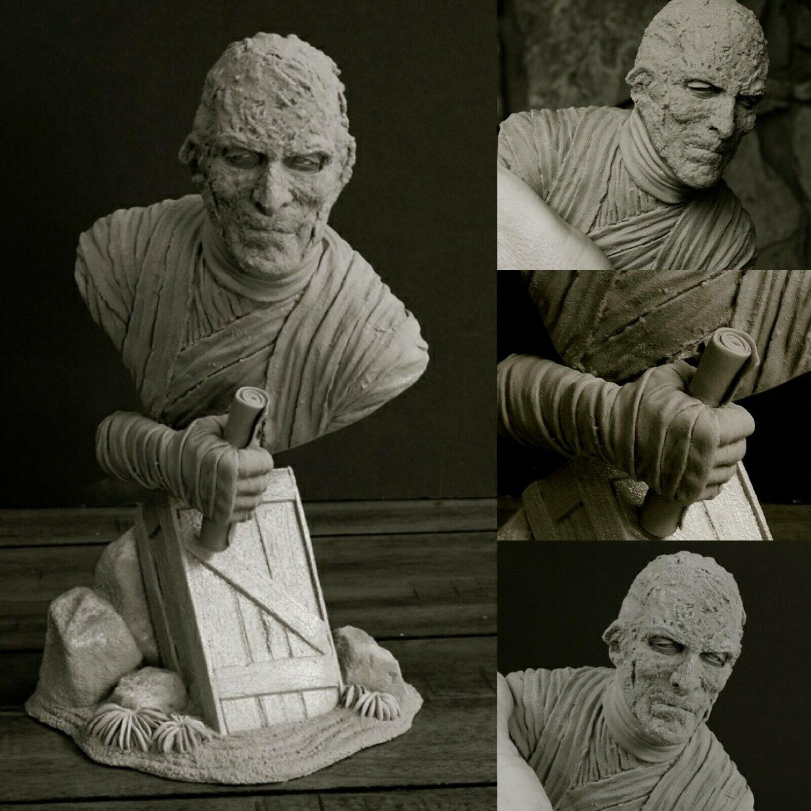 Mummy (1959) Christopher Lee 1/4 Bust Model Kit