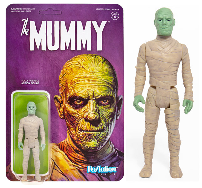 "Mummy Lon Chaney 3.75"" ReAction Figure Universal Monsters Series"