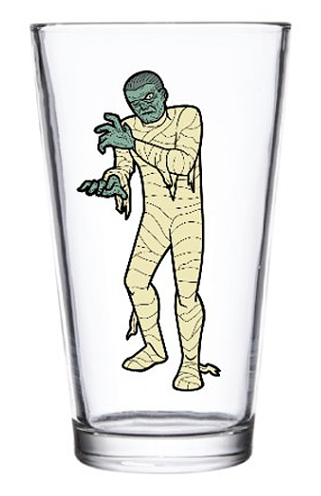 Mummy Universal Monsters Pint Glass