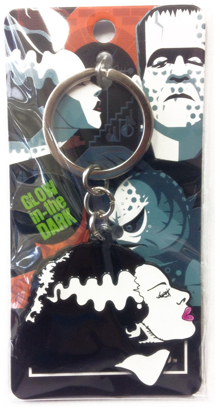 Bride of Frankenstein Enamel Keychain (Glow In The Dark)