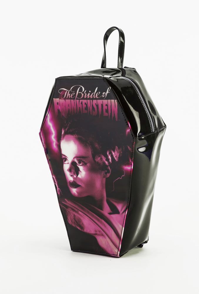 Bride Of Frankenstein Elsa Lanchester Coffin Back Pack Handbag