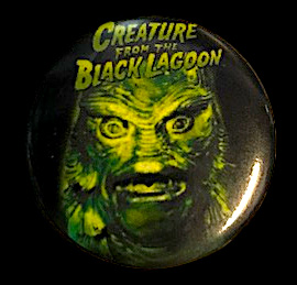 Creature From The Black Lagoon Monster Button