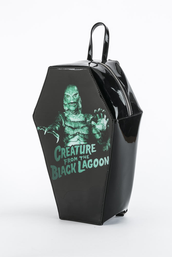 Creature From The Black Lagoon Coffin Back Pack Handbag