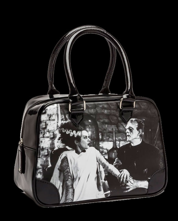 Frankenstein and Bride We Belong Dead Bowler Handbag Purse