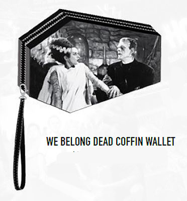 Frankenstein and Bride We Belong Dead Coffin Wallet