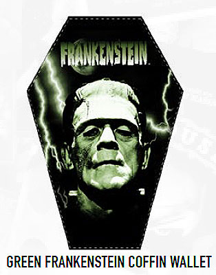 Frankenstein Boris Karloff Coffin Wallet