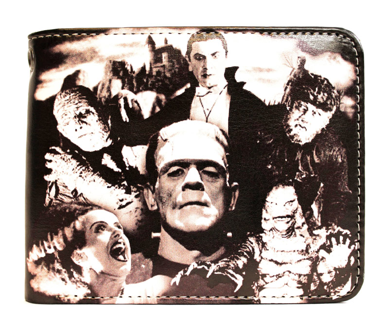 Universal Monsters Collage Billfold Wallet