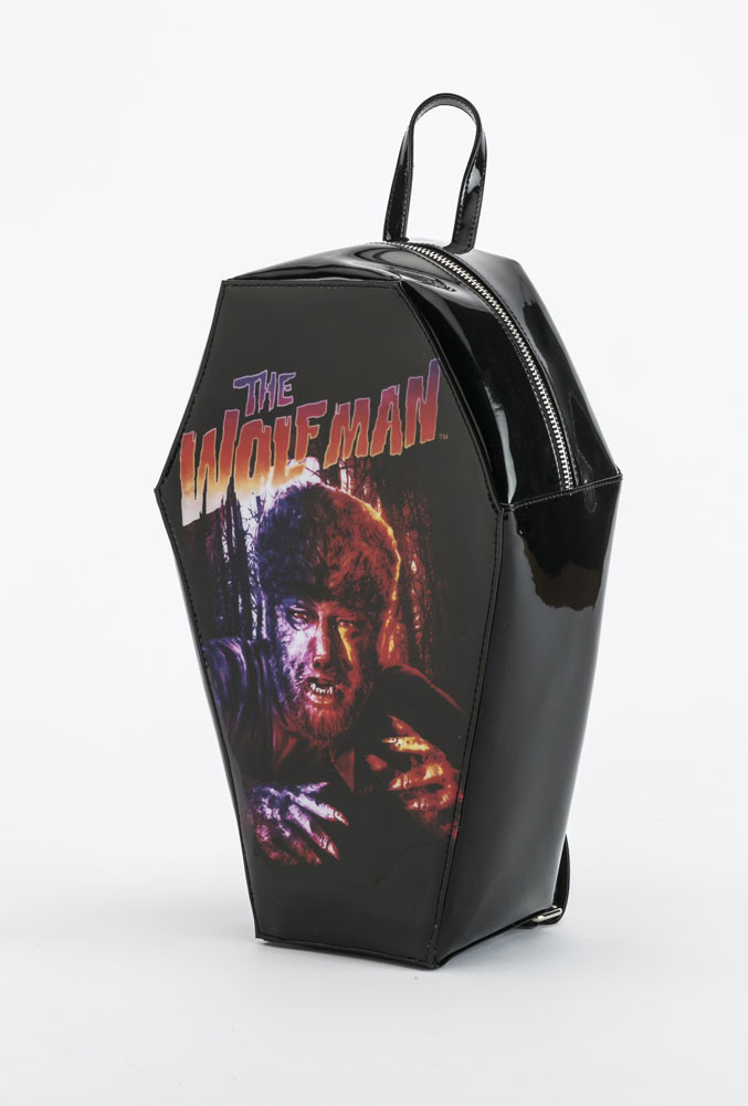 Wolf Man Lon Chaney Coffin Back Pack Handbag