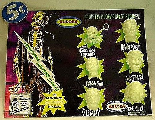 Aurora Monsters Glow Head Fantasy Model Display Card Forgotten Prisoner Version