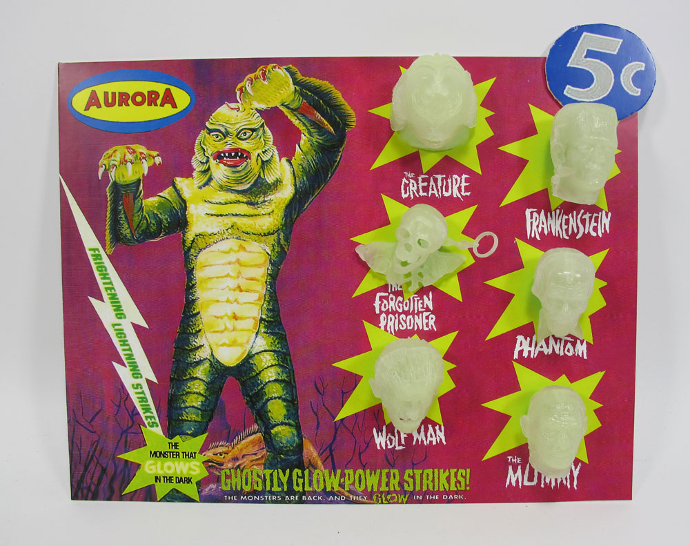 Aurora Monsters Glow Head Fantasy Model Display Card Creature from the Black Lagoon Version