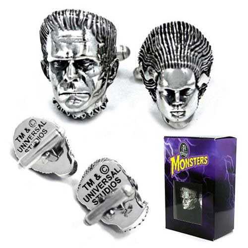 Universal Monsters Frankenstein and Bride Cufflinks Set
