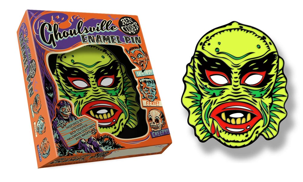 Ben Cooper Ghoulsville Creature Fish Face Enamel Pin