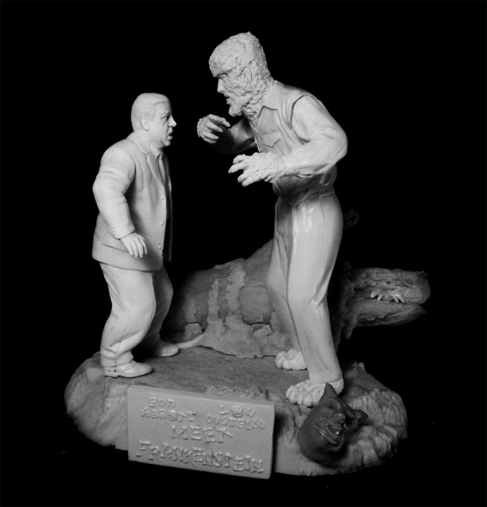 Wolfman and Scared Wilbur Jungle Scene Aurora Monster Scenes Scale Model Kit